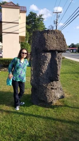 The stone Moai!