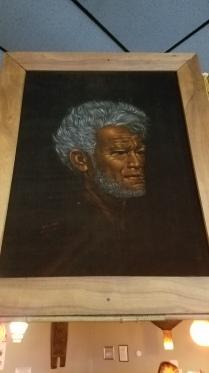 Leeteg-style velvet painting