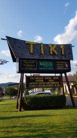 The Tiki Resort sign along Canada St.